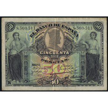 Billetes de Alfonso XIII