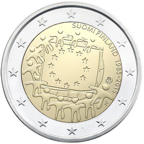 Monedas 2 Euro 30 AÑOS BANDERA EUROPA 2015
