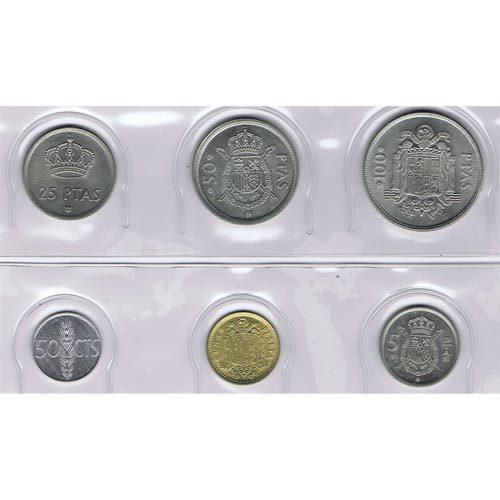 Monedas Pesetas por años completos