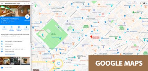 Filatelia y Numismática López en Google Maps