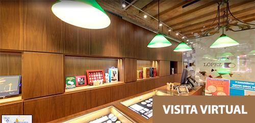 Visita virtual a tienda de Numismática y Filatelia López