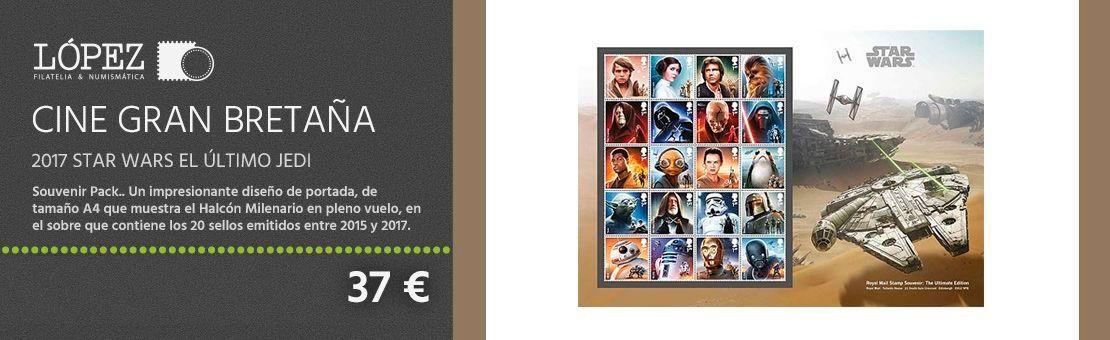 Cine Gran Bretaña 2017 Star Wars El Último Jedi Souvenir Pack